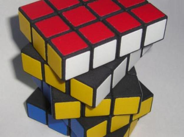 3x4x5 cuboid puzzle (fully functional) 3d printed Showing twisting