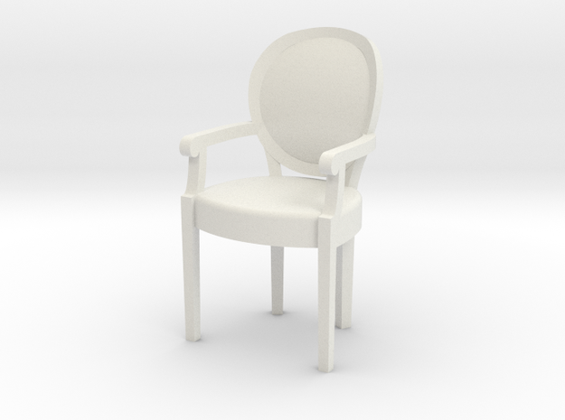 1:48 Louis XVI Armchair in White Strong & Flexible