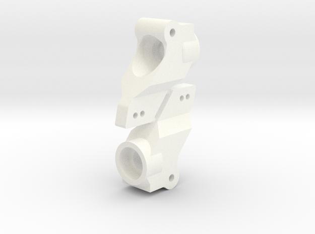 NIX63652 RC10 Hex Conversion Hubs in White Processed Versatile Plastic