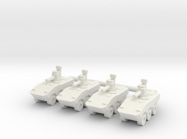 1/144 VBTP-MR Guarani (RWS) (x4) in White Natural Versatile Plastic