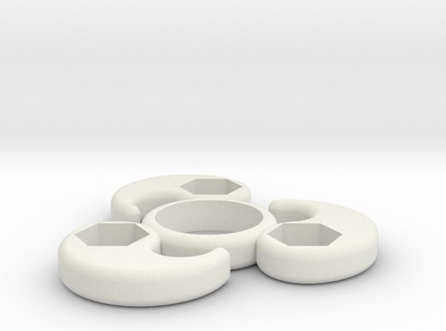 Single Bearing Hand Spinner in White Strong & Flexible