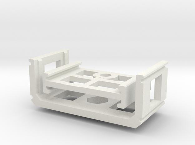 Zoom H1 Isolation Mount v2 in White Natural Versatile Plastic