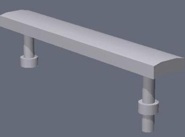 1:76th Modern metal benches in White Natural Versatile Plastic