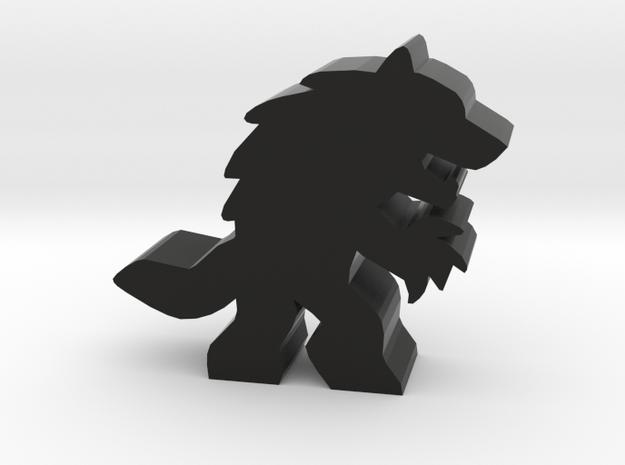 Game Piece, Werewolf Attack in Black Natural Versatile Plastic