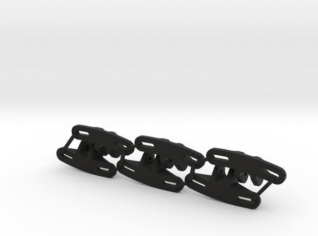 Panhard Chassis Mount - Flat (Qty 6) in Black Strong & Flexible