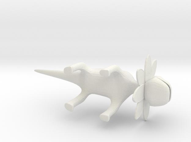Petal Monster Lizard  in White Natural Versatile Plastic: Small
