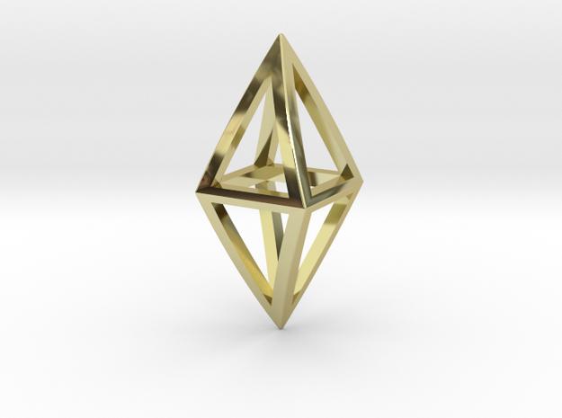 Diamond Pendant in 18k Gold Plated