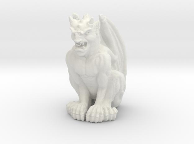Gargoyle Statue in White Natural Versatile Plastic