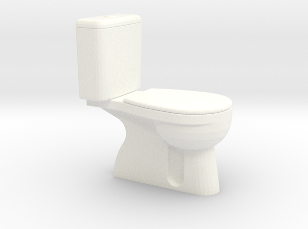 Toilette Spur 0, 1:45 in White Processed Versatile Plastic