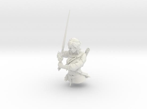 The Witcher - Ciri part 1 in White Natural Versatile Plastic