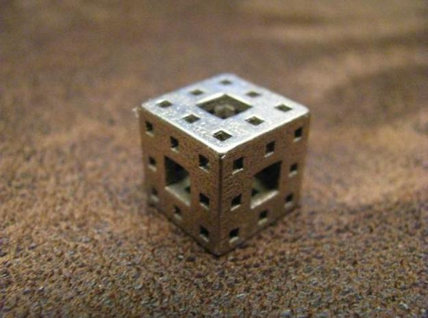 Menger Sponge Pendant 3d printed New fractal on the block--math at its best