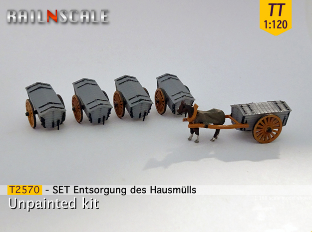 SET Entsorgung des Hausmülls (TT 1:120) in Frosted Ultra Detail