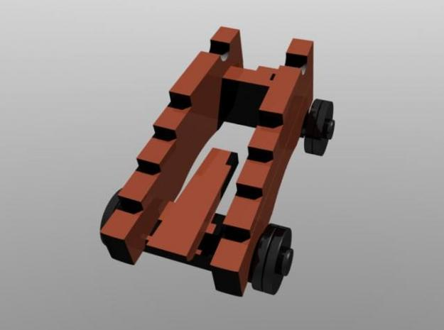 24 pounder carriage 1/96 scale a 3d printed gun carriage