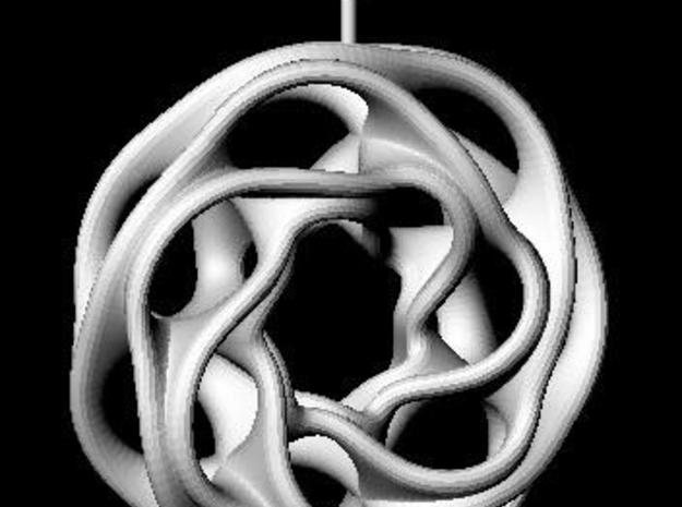 convoluted ring earring 2 3d printed Description