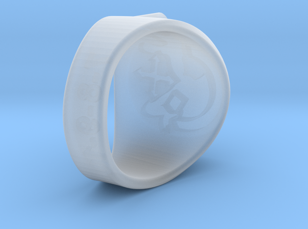 FLYMOLO's Ring in Smooth Fine Detail Plastic