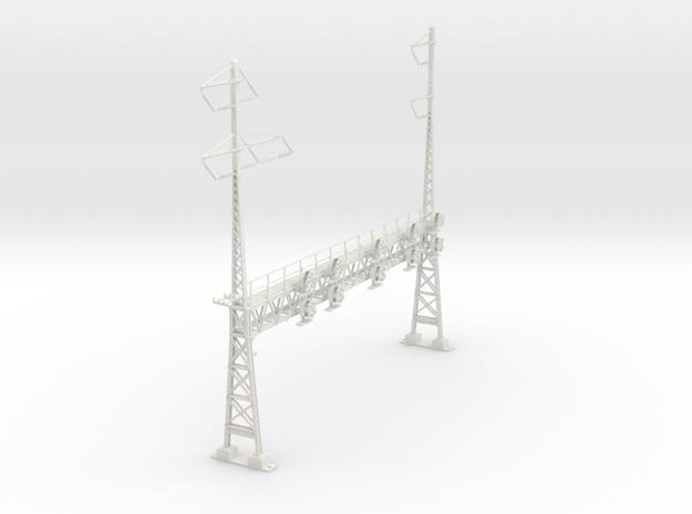 HO Scale PRR W-signal LATTICE 6 Track  W 2-3 PHASE in White Natural Versatile Plastic