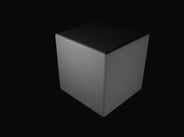 Blank die split 3d printed cube after joining