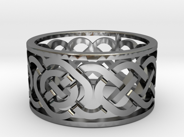 Celtic Knot Ring in Premium Silver