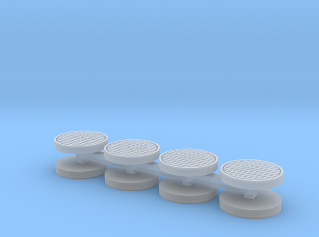 ~32 HO inch Manhole Covers in Smoothest Fine Detail Plastic