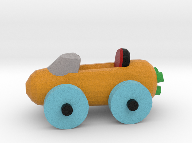 Carrot Car 2 in Full Color Sandstone: Small