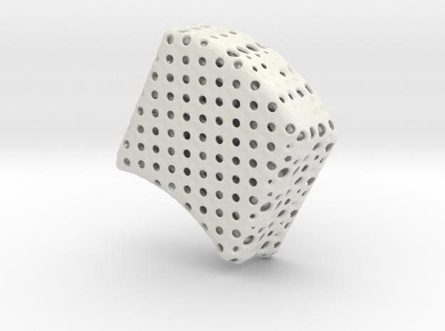 Truncated Icosahedron Sphere (3 copies needed) in White Natural Versatile Plastic