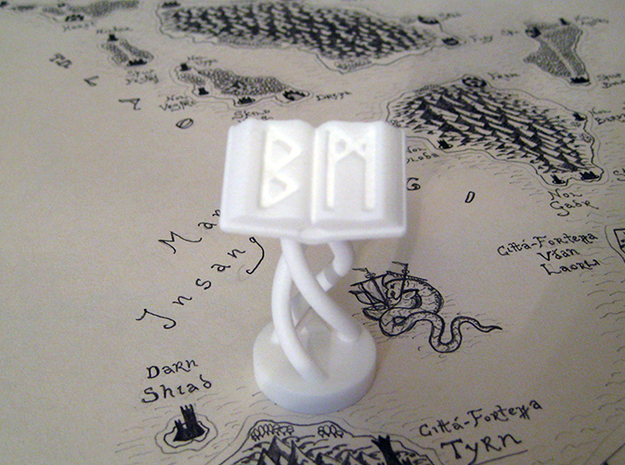 Role Playing Counter: Magic Tome 3d printed Magic Tome in Strong & Flexible Plastic (Polished White)
