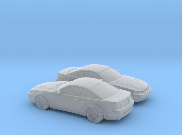 1/160 2X 2003 Ford Mustang in Smooth Fine Detail Plastic