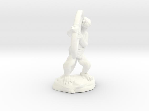 Kobold Archer Crouching  in White Processed Versatile Plastic