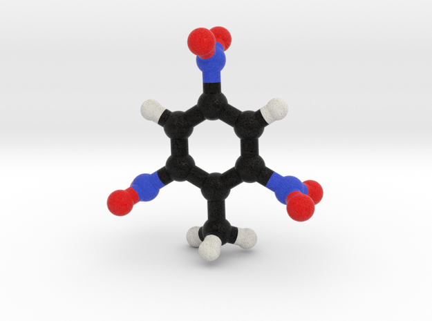 TNT Molecule Model, 3 Sizes. in Full Color Sandstone: 1:10