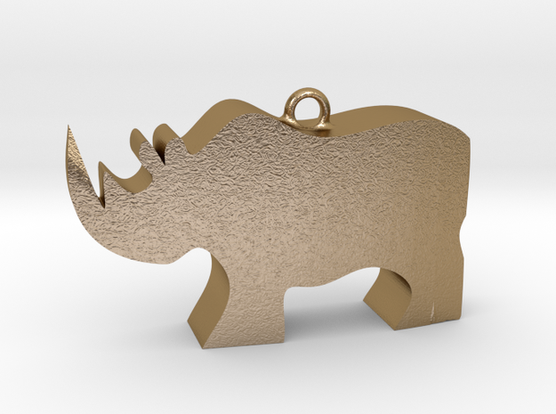 RHINO2hollow in Polished Gold Steel