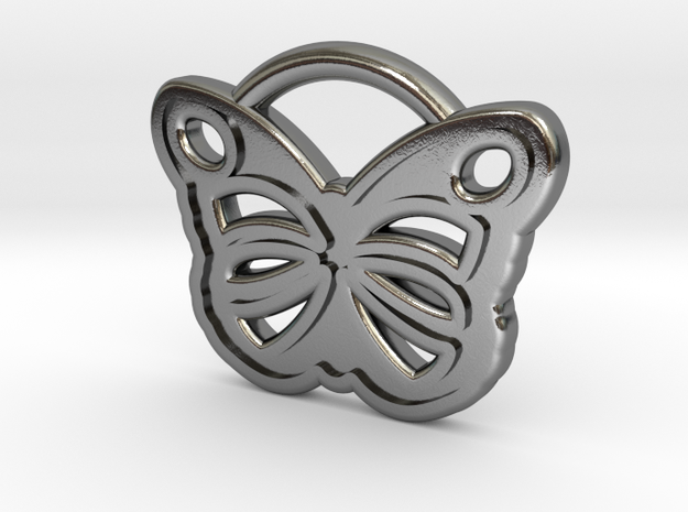 Butterfly Pendant in Polished Silver