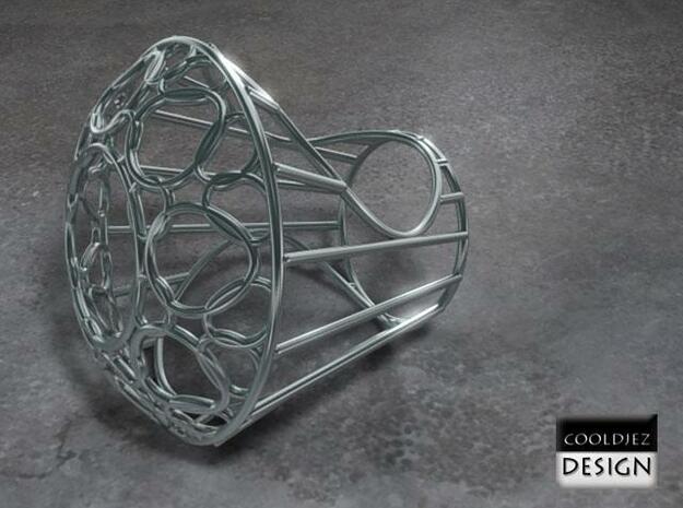 Ring - Big Diamond Wire 3d printed Render