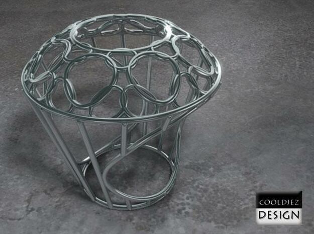 Ring - Big Diamond Wire 3d printed Render S