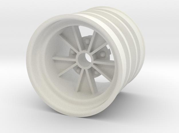 Rear SRB BRM retro wheel in White Natural Versatile Plastic