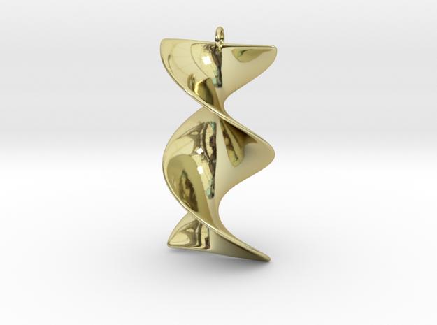 Elegant Z-DNA in 18k Gold Plated Brass