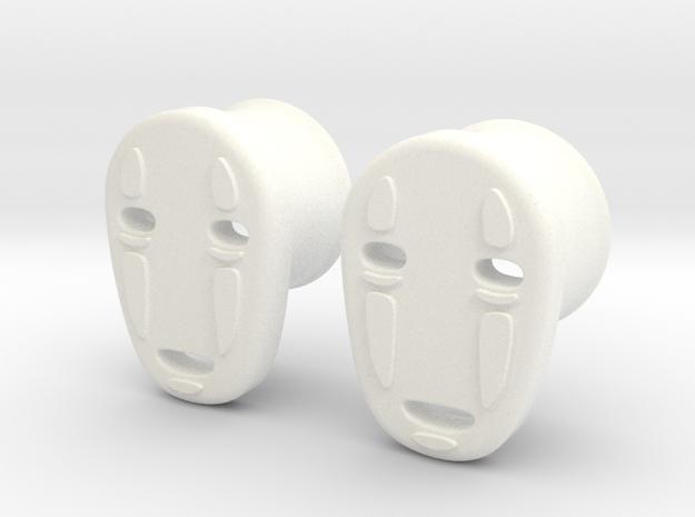 """5/8"""" Noh Face in White Processed Versatile Plastic"""