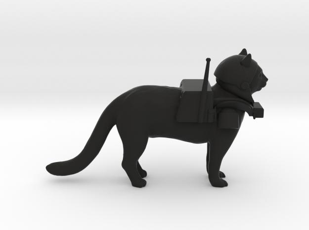 Space Cat in Black Natural Versatile Plastic