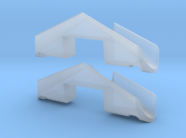 1 Pair MZ snow plows for Hispatren 333 / Mz in N in Smooth Fine Detail Plastic