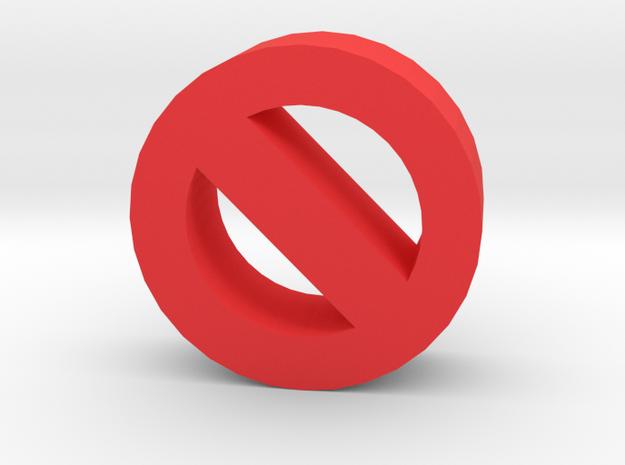 Game Piece, No Symbol in Red Processed Versatile Plastic