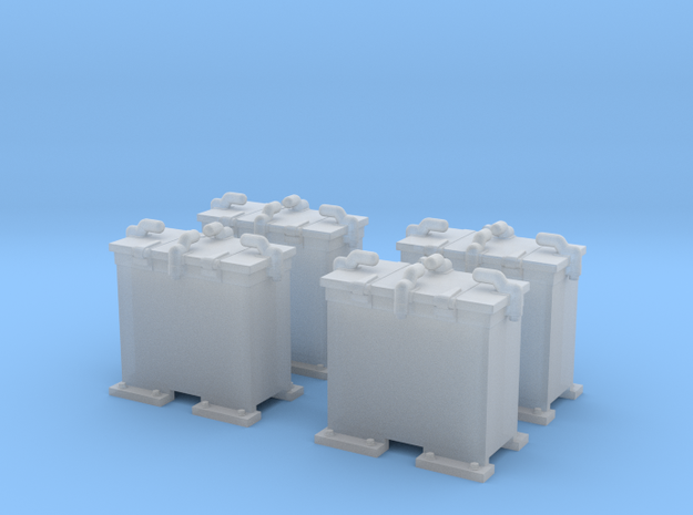 1/144 Scale 20mm Oerlikon Ready Use Lockers x4 in Smoothest Fine Detail Plastic