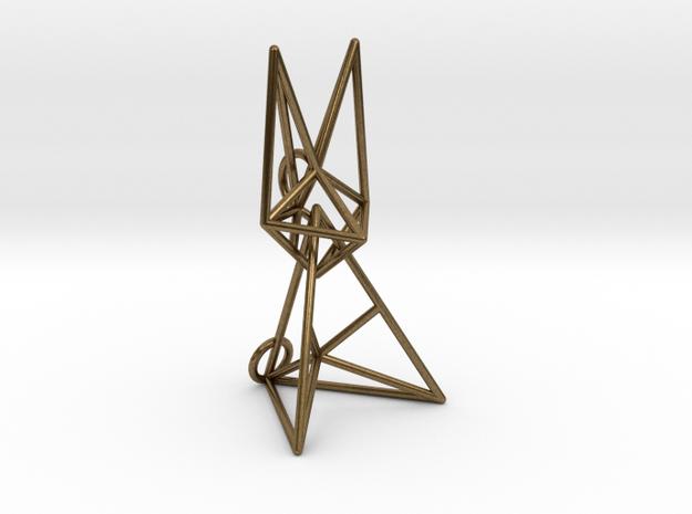 Wireframe Bunny in Interlocking Raw Bronze