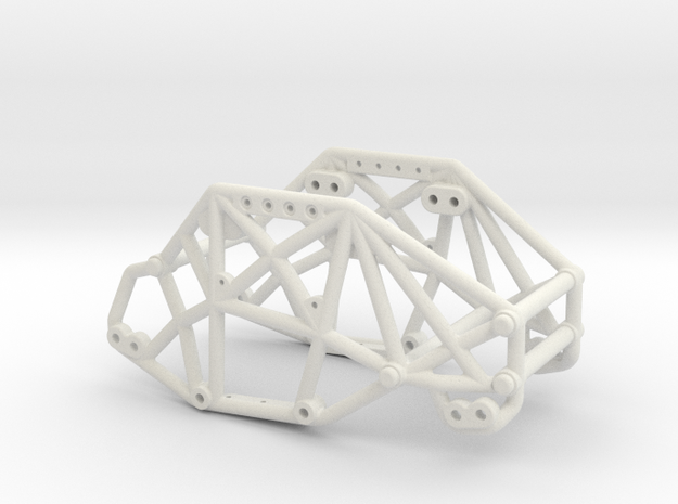 R1 Rock Buggy Chassis for Losi Micro Rock Crawler in White Strong & Flexible