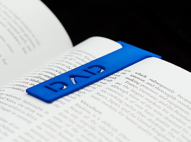 Bookmark Dad in Blue Processed Versatile Plastic