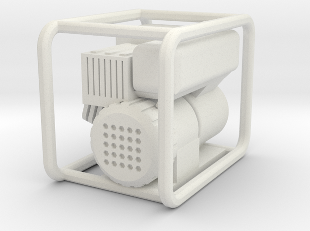 Scale 1/10 Petrol Generator in White Natural Versatile Plastic