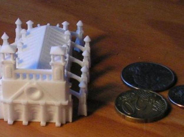 Gothic Style Cathedral 3d printed Photo with US Dime, Quarter, and 20 cent euro piece