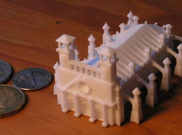 Gothic Style Cathedral 3d printed Photo4 with US Dime, Quarter, and 20 cent euro piece