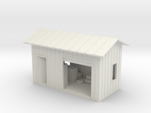 HO Shed With Lighting in White Strong & Flexible