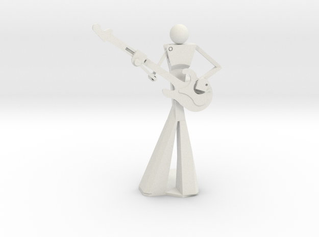 Smooth Guitarist in White Strong & Flexible