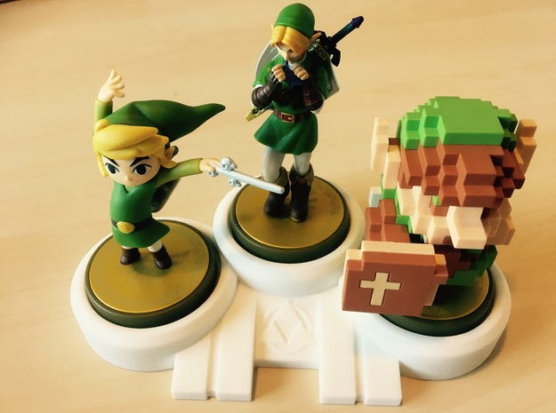 Legend of Zelda themed Amiibo Display Stand  in White Strong & Flexible Polished