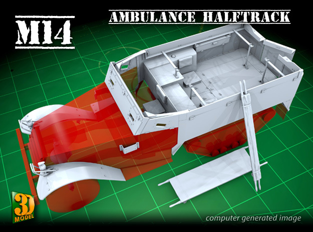 M14 Ambulance conversion (1/35) in Smooth Fine Detail Plastic